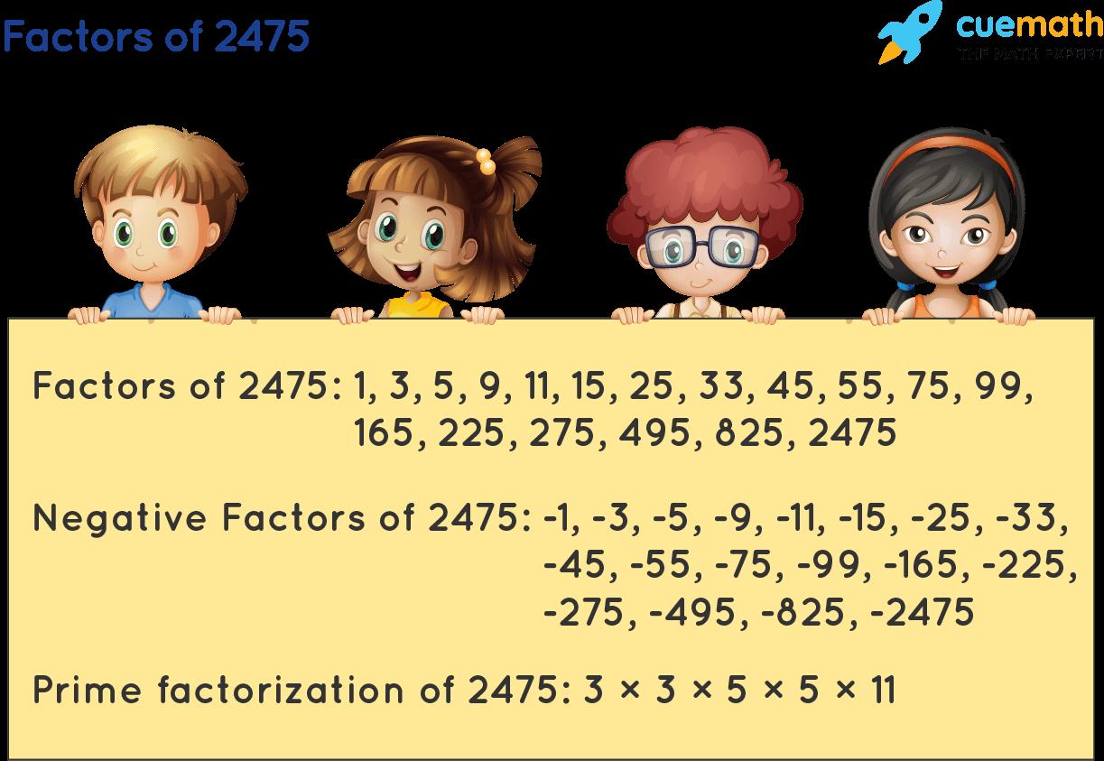 Factors of 2475