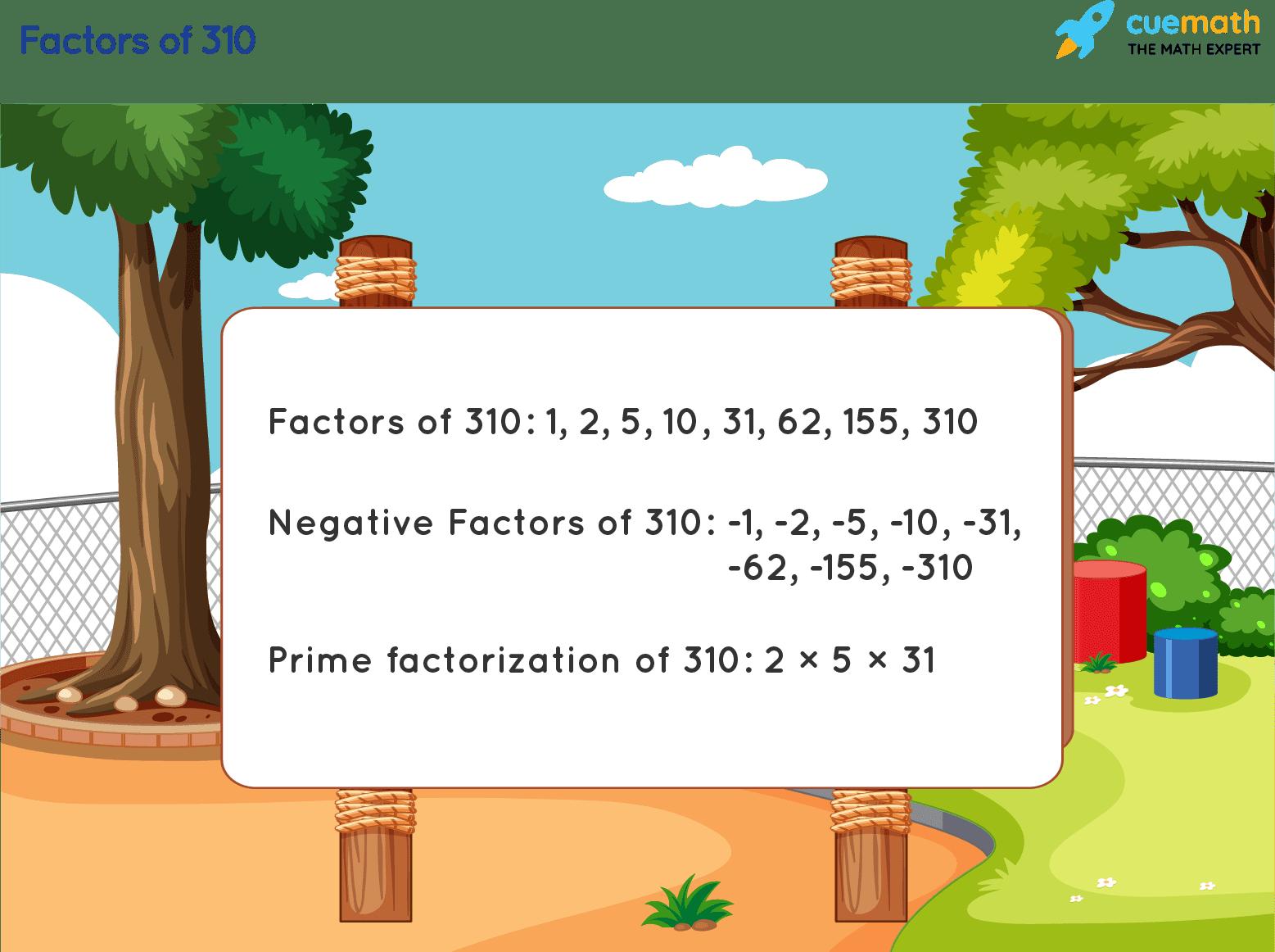 Factors of 310