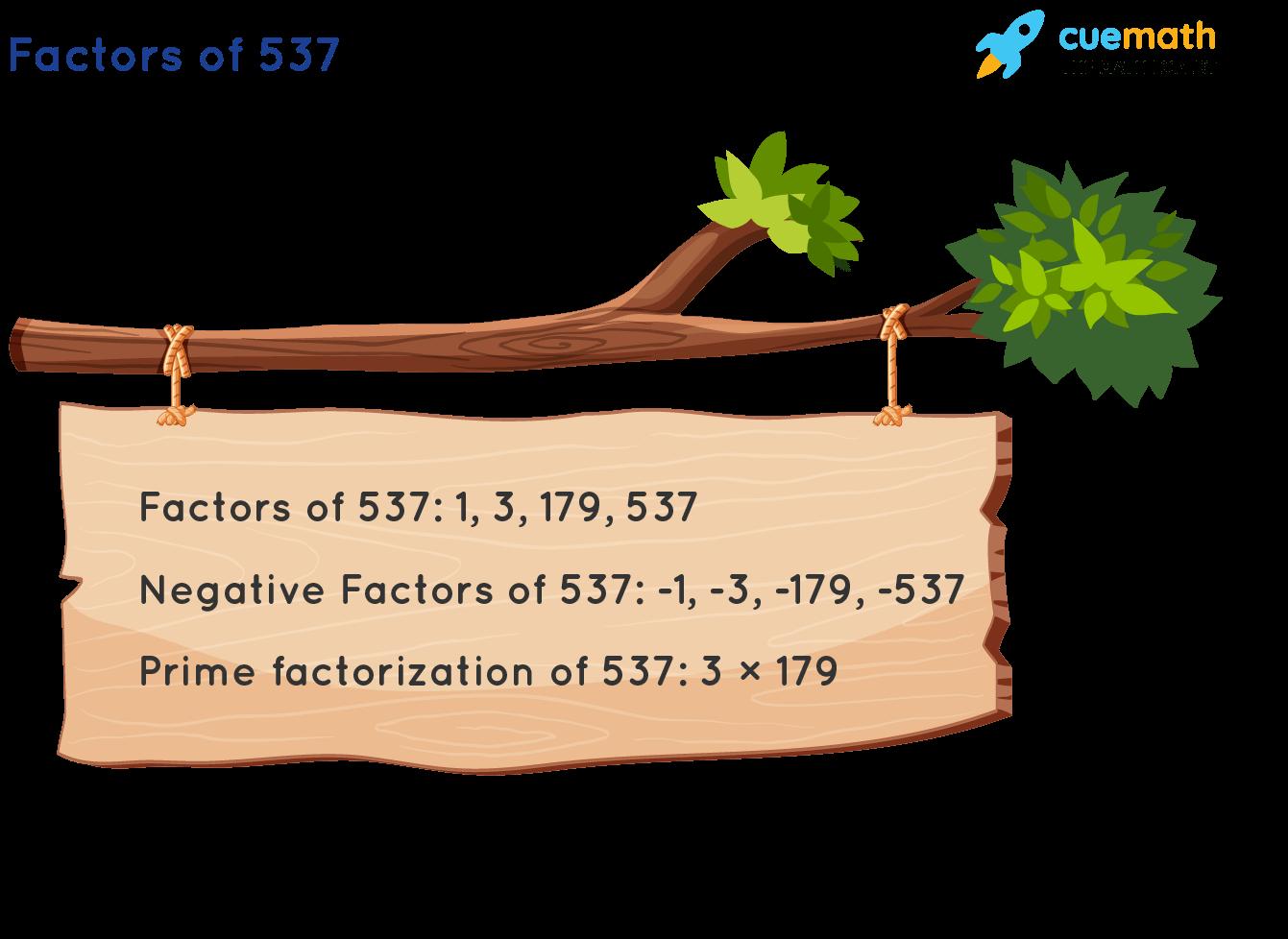 Factors of 537