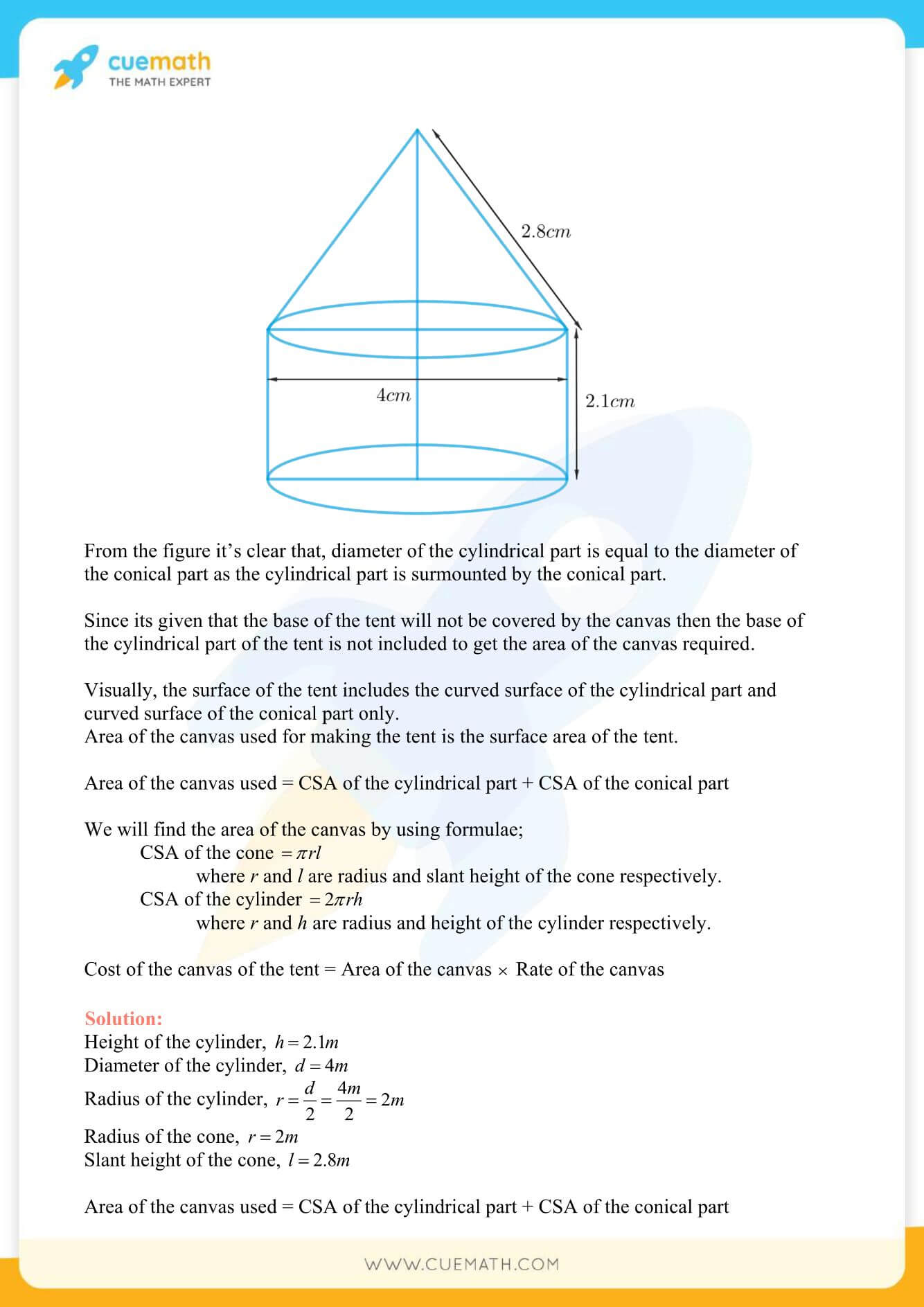 NCERT Solutions Class 10 Maths Chapter 13 Surface Area And Volumes 10