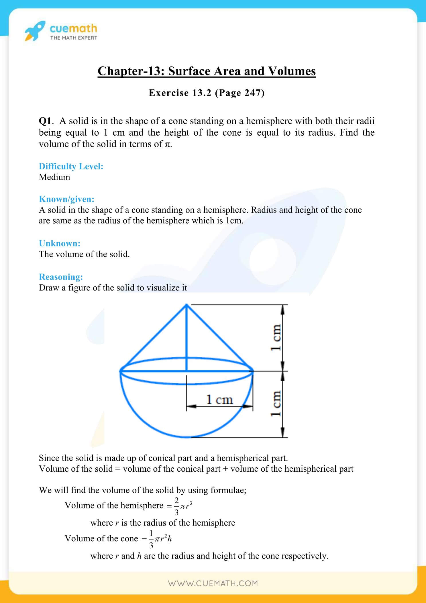 NCERT Solutions Class 10 Maths Chapter 13 Surface Area And Volumes 15