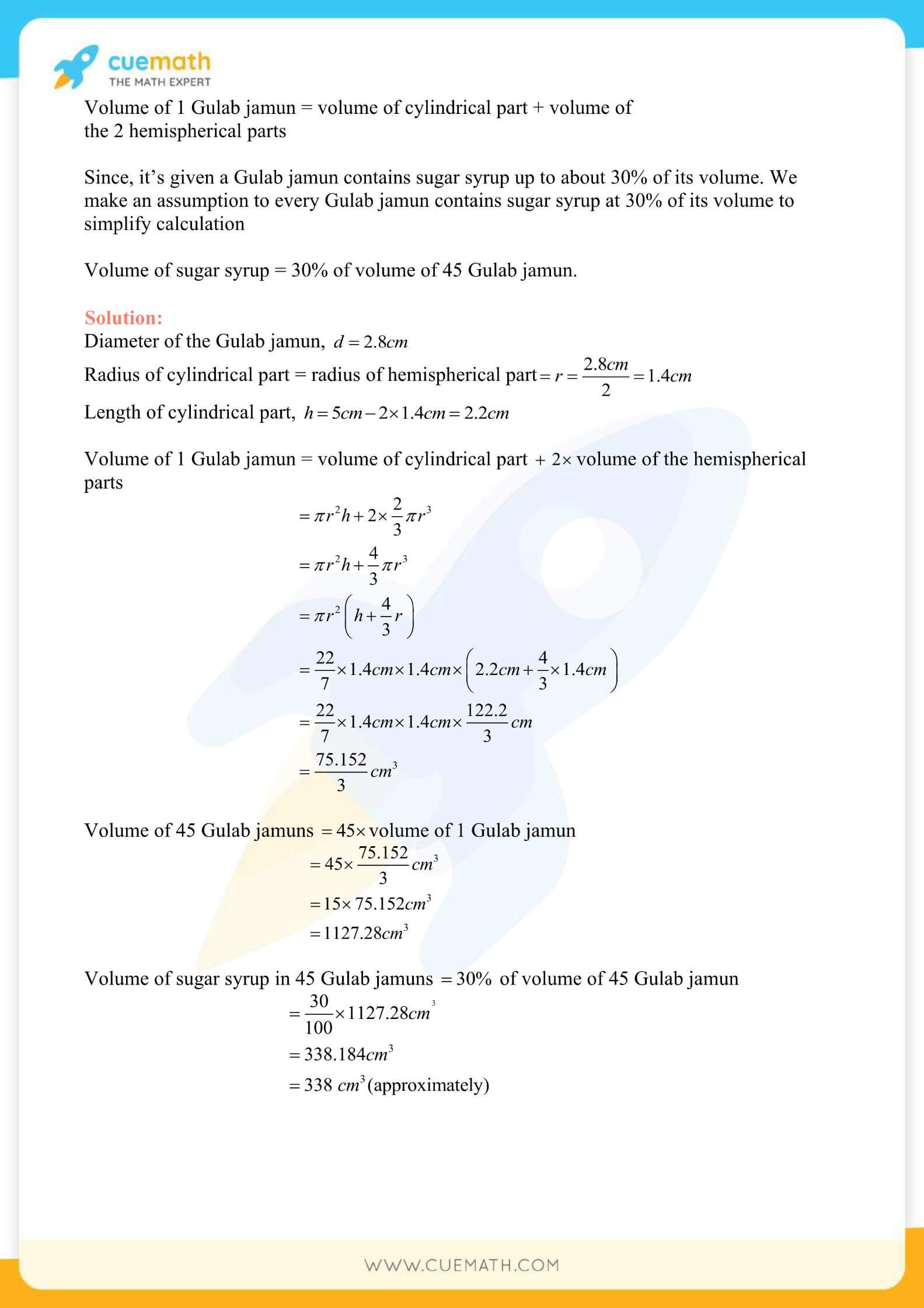 NCERT Solutions Class 10 Maths Chapter 13 Surface Area And Volumes 19
