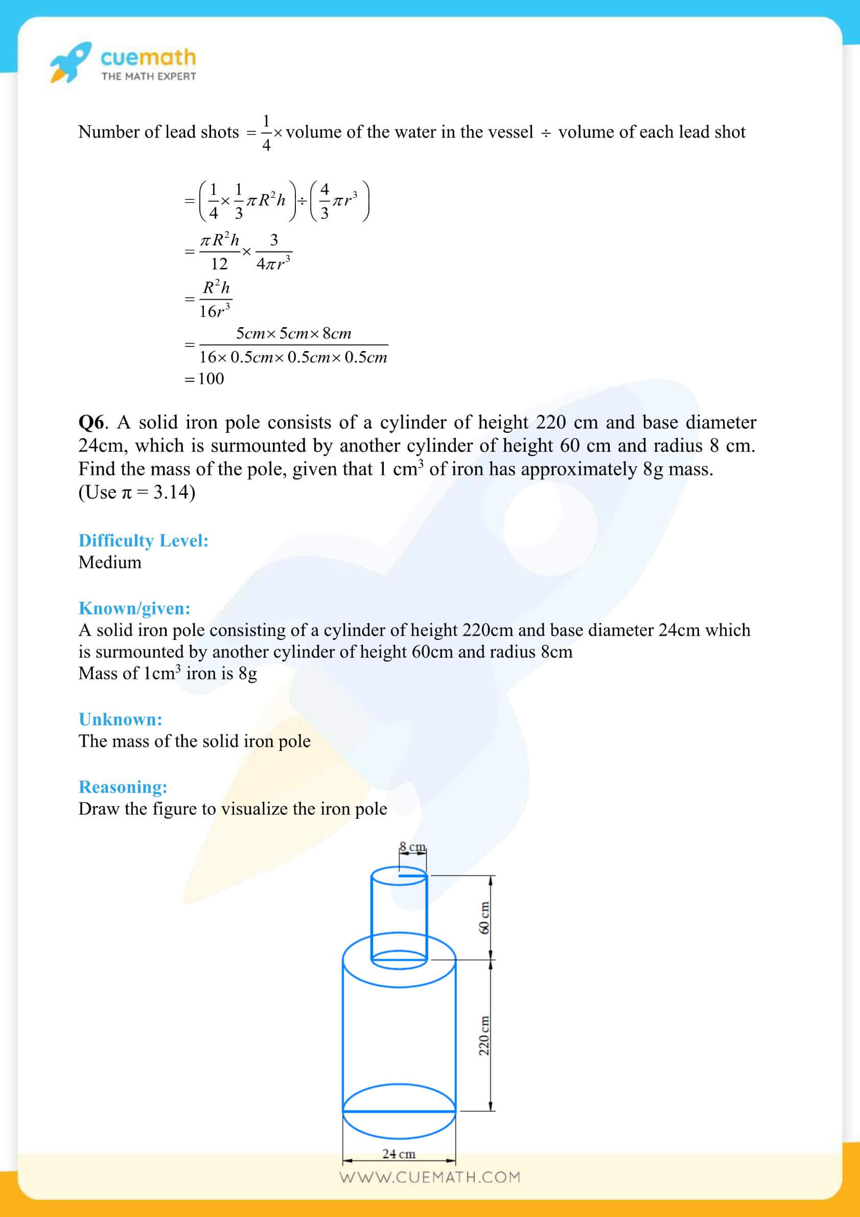 NCERT Solutions Class 10 Maths Chapter 13 Surface Area And Volumes 23