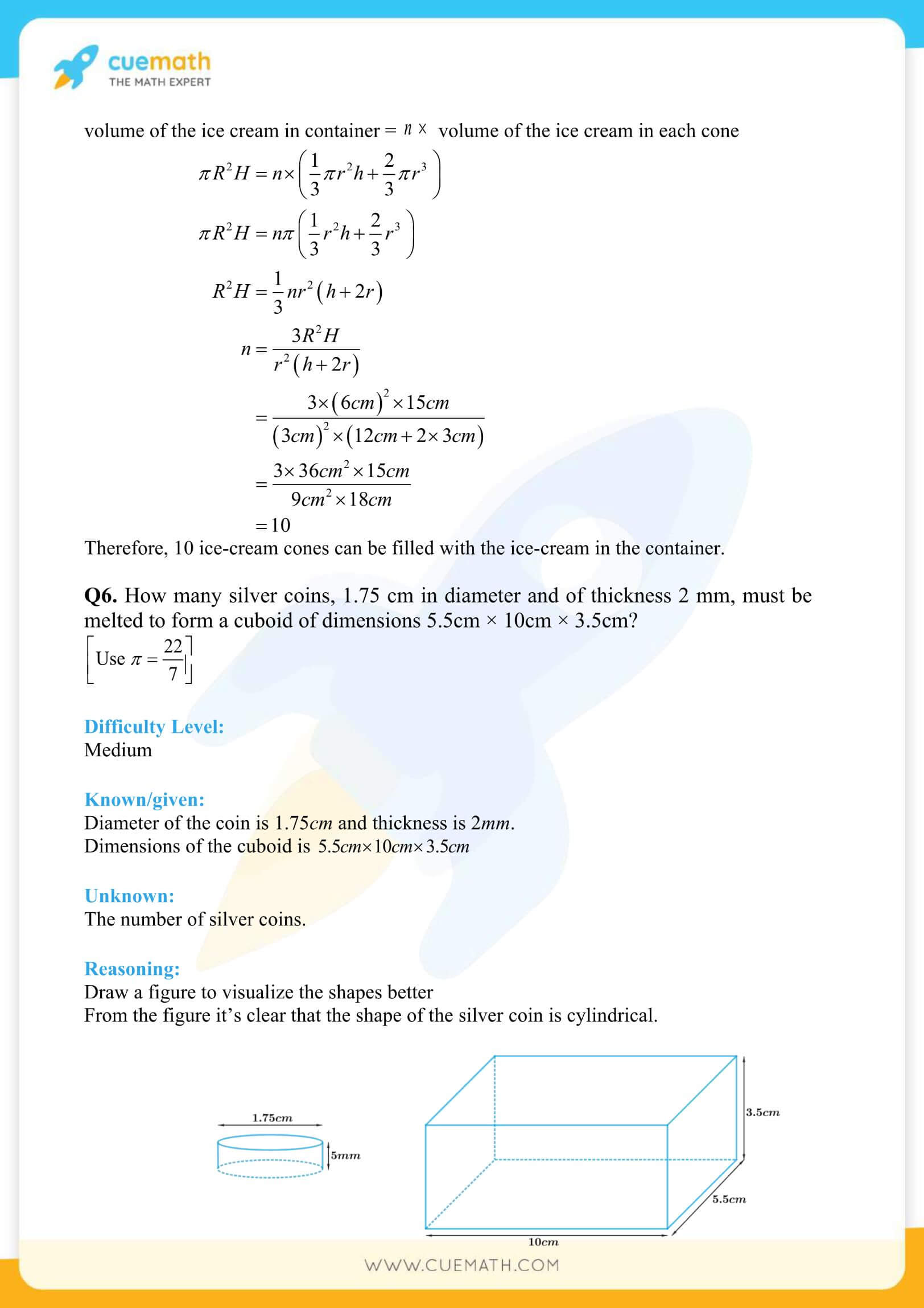 NCERT Solutions Class 10 Maths Chapter 13 Surface Area And Volumes 35