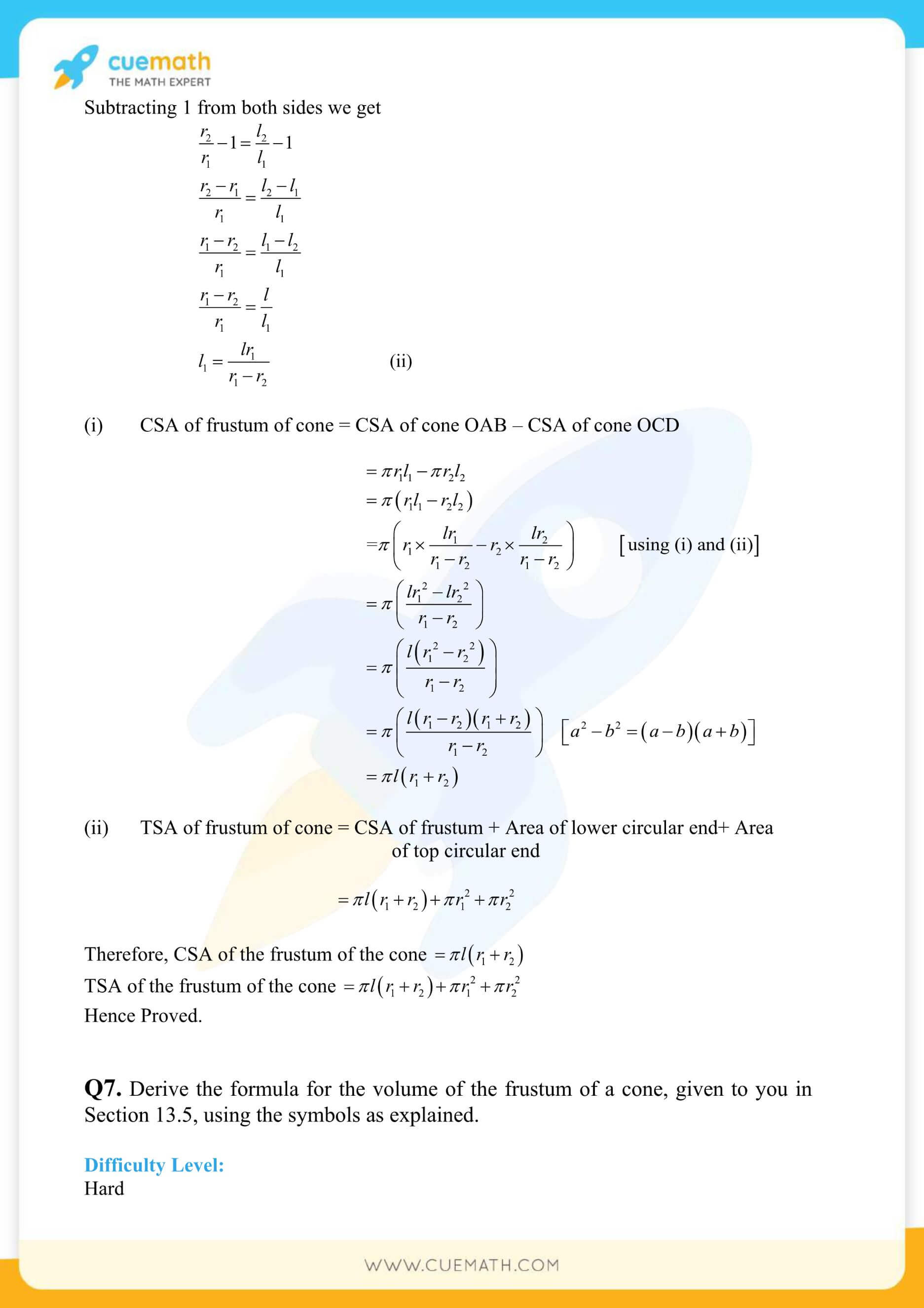 NCERT Solutions Class 10 Maths Chapter 13 Surface Area And Volumes 64