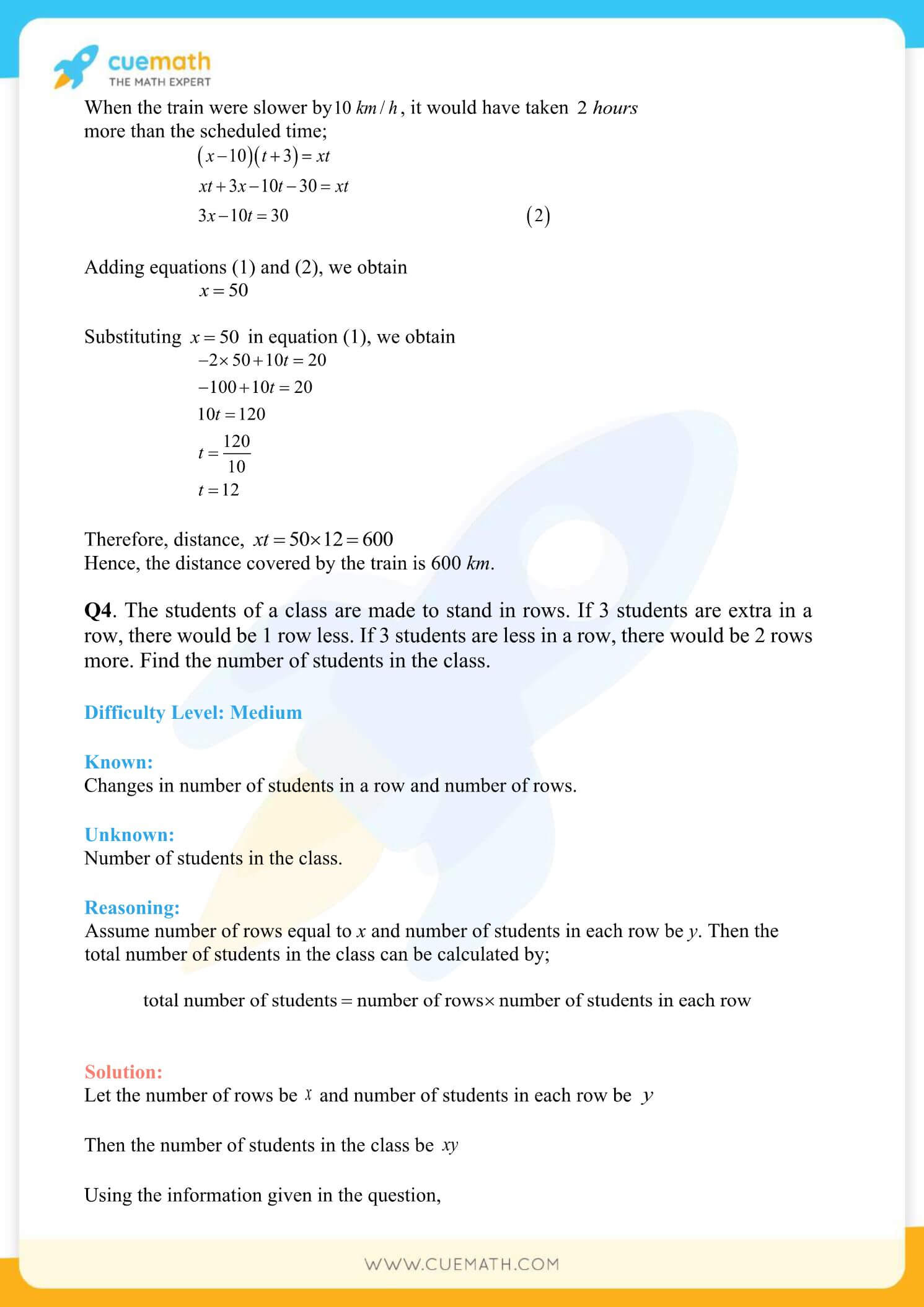 NCERT Solutions Class 10 Maths Chapter 3 Pair Of Linear Equations 81