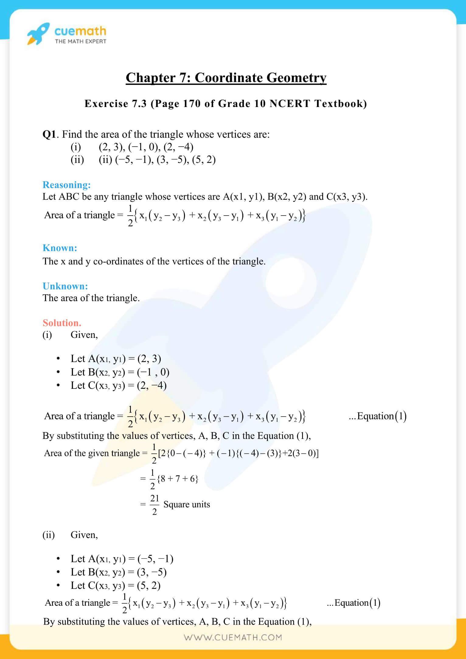 NCERT Solutions Class 10 Maths Chapter 7 Coordinate Geometry 33