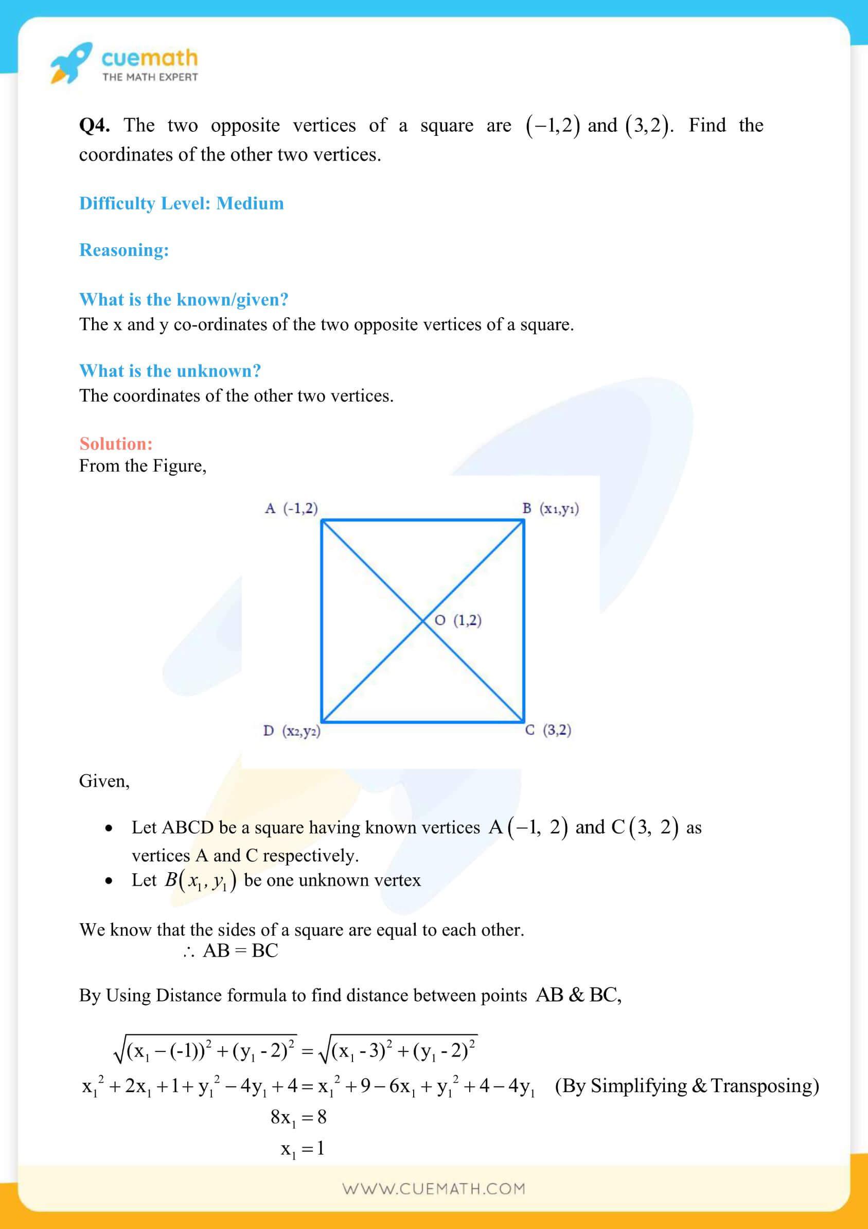 NCERT Solutions Class 10 Maths Chapter 7 Exercise 7.4 44
