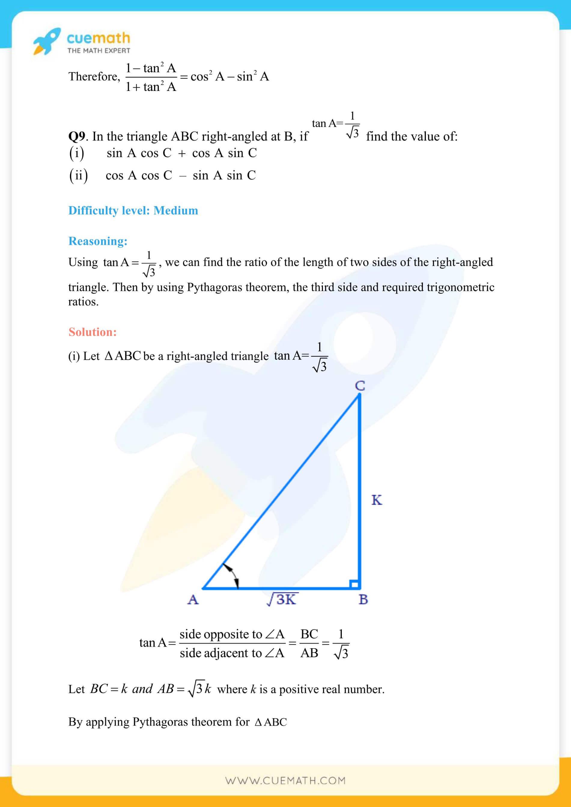 NCERT Solutions Class 10 Maths Chapter 8 Exercise 8.1 16