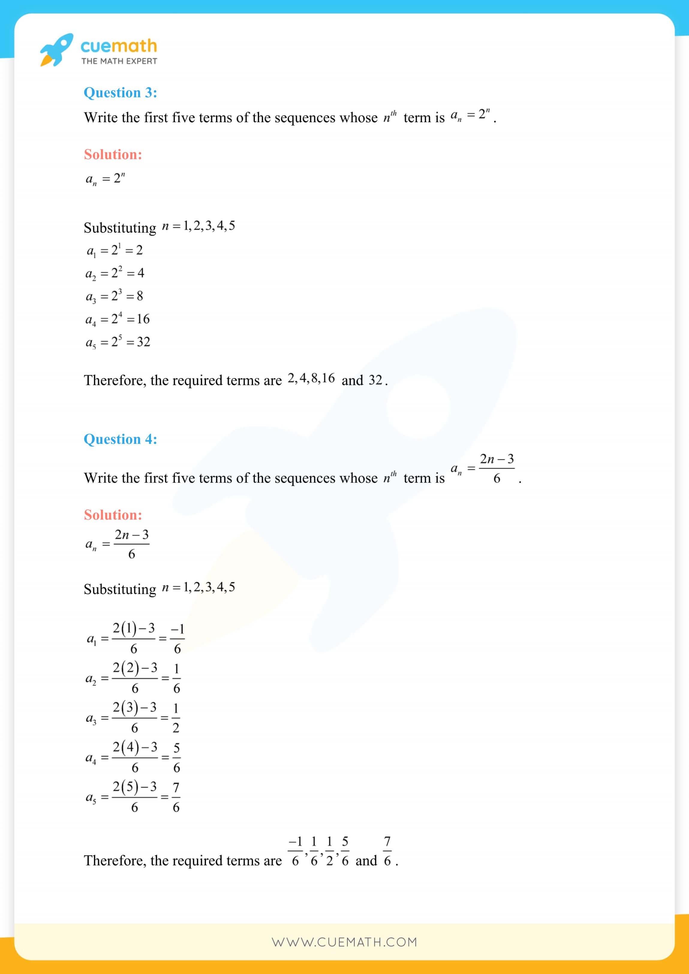 NCERT Solutions Class 11 Maths Chapter 9 Exercise 9.1 2