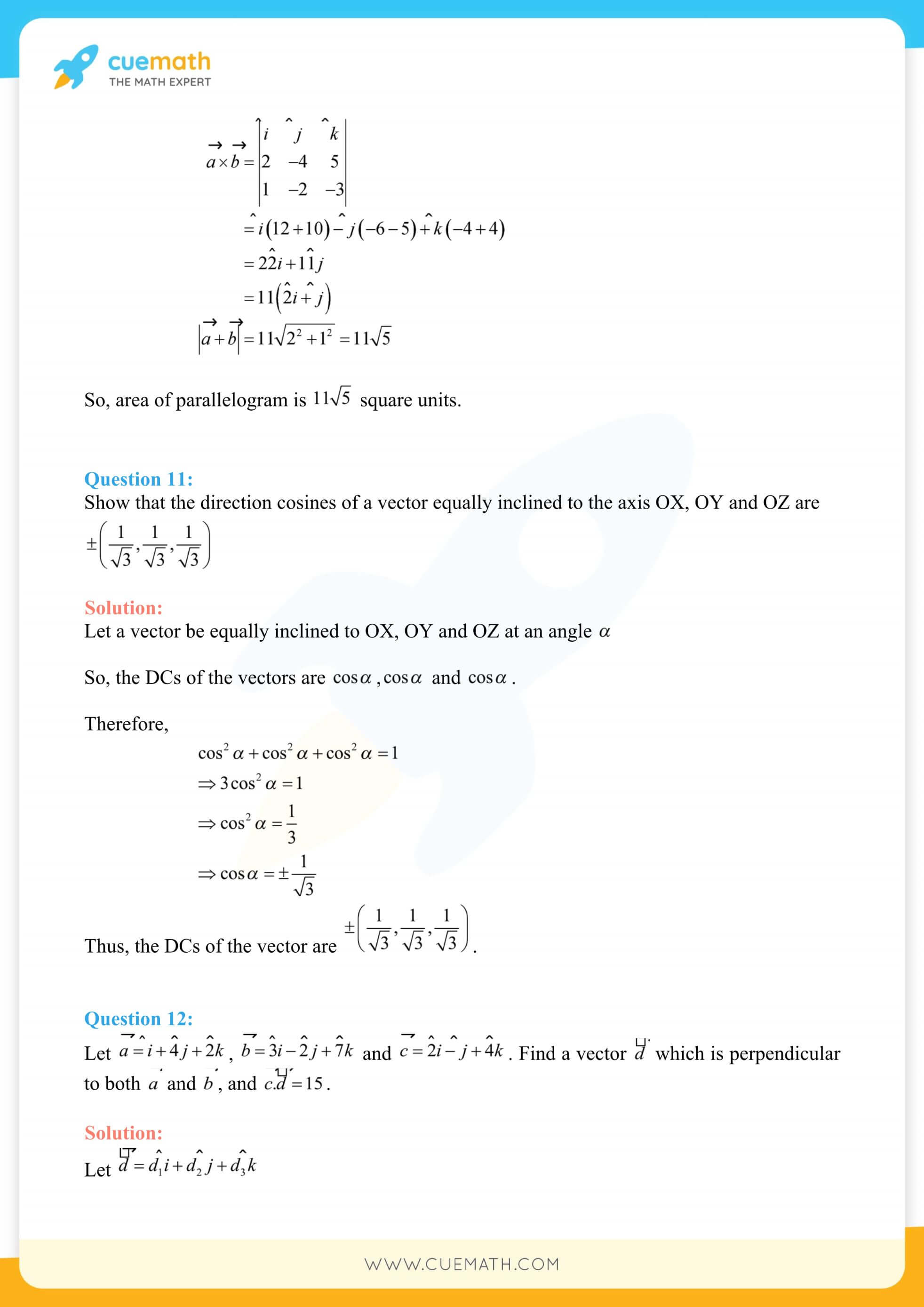 NCERT Solutions Class 12 Maths Chapter 10 Miscellaneous Exercise 40