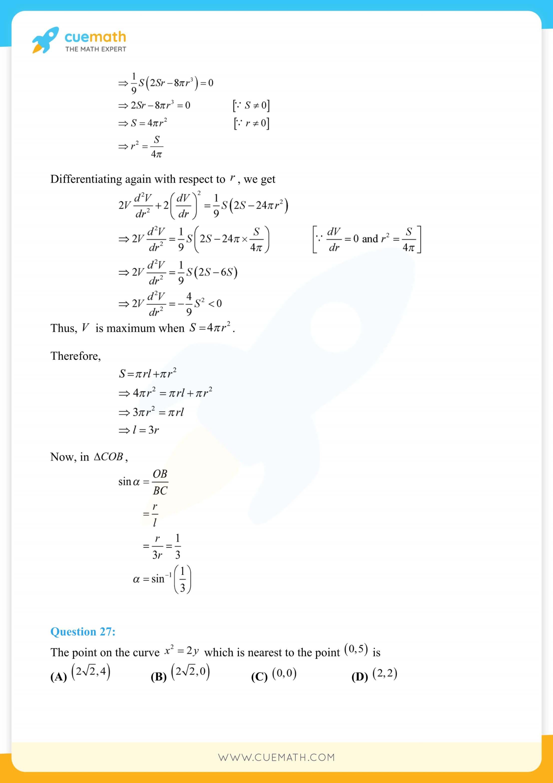 NCERT Solutions Class 12 Maths Chapter 6 126