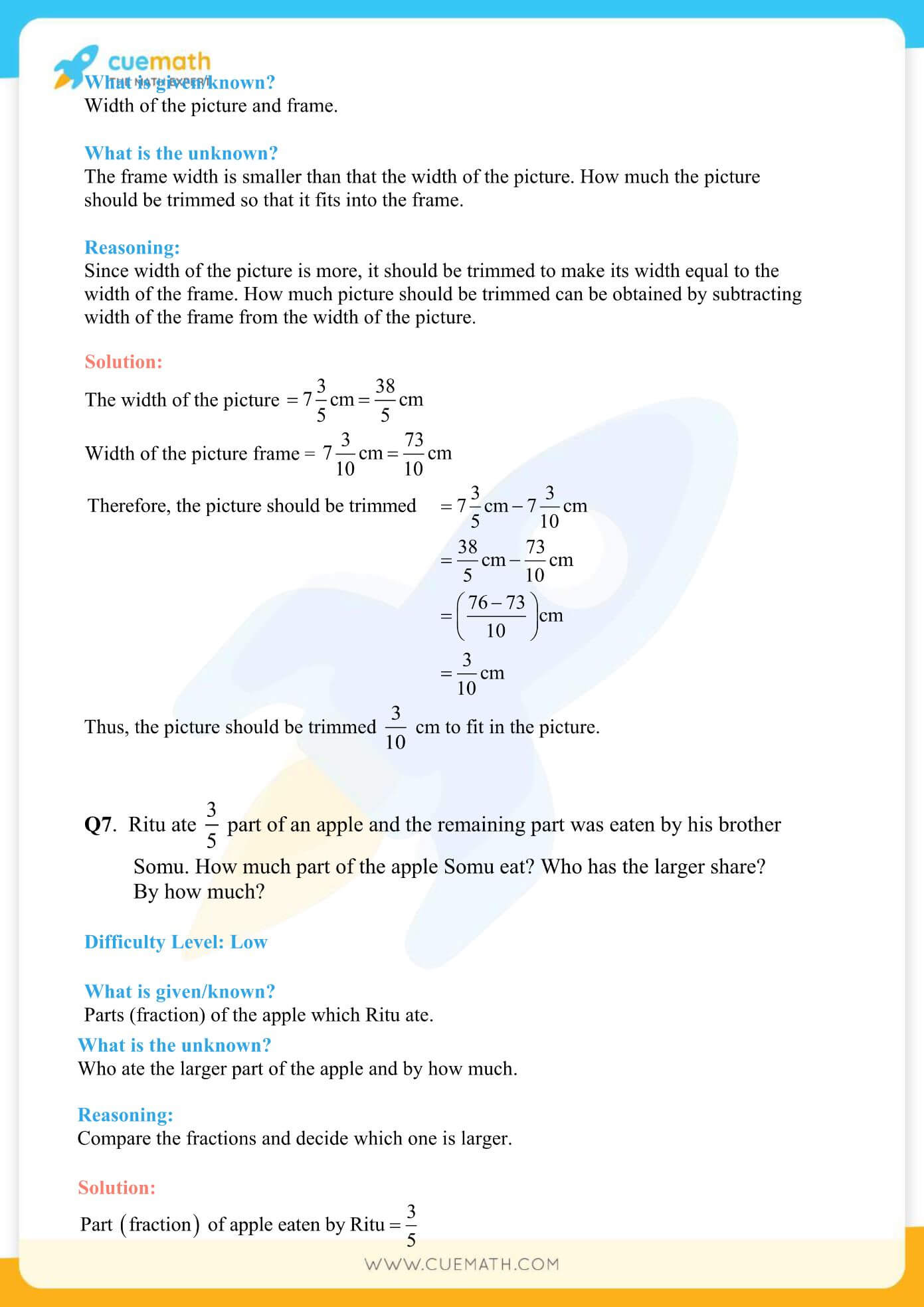NCERT Solutions Class 7 Math Chapter 2 Fractions And Decimals 8