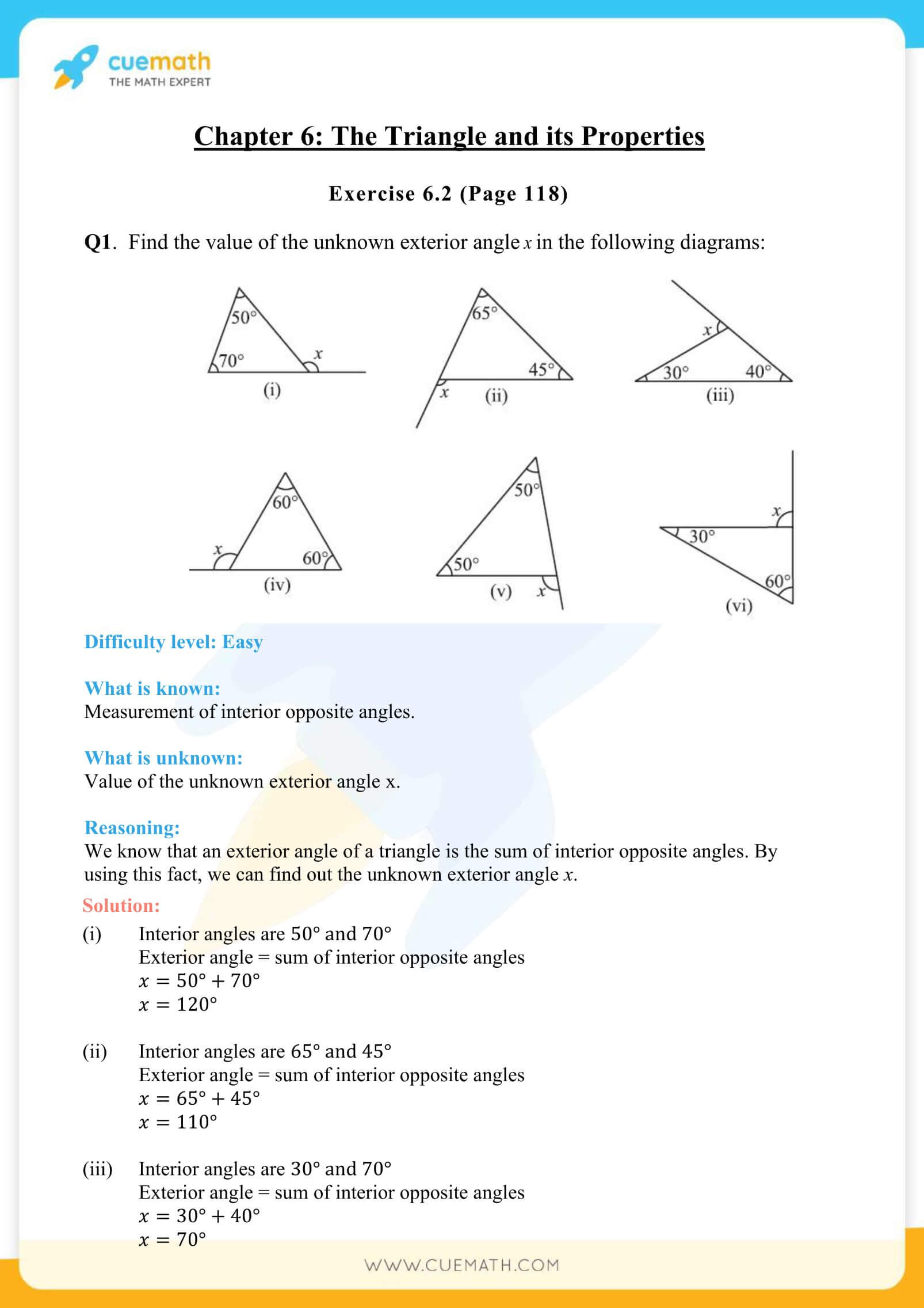 NCERT Solutions Class 7 Math Chapter 6 The Triangle And Its Properties 4