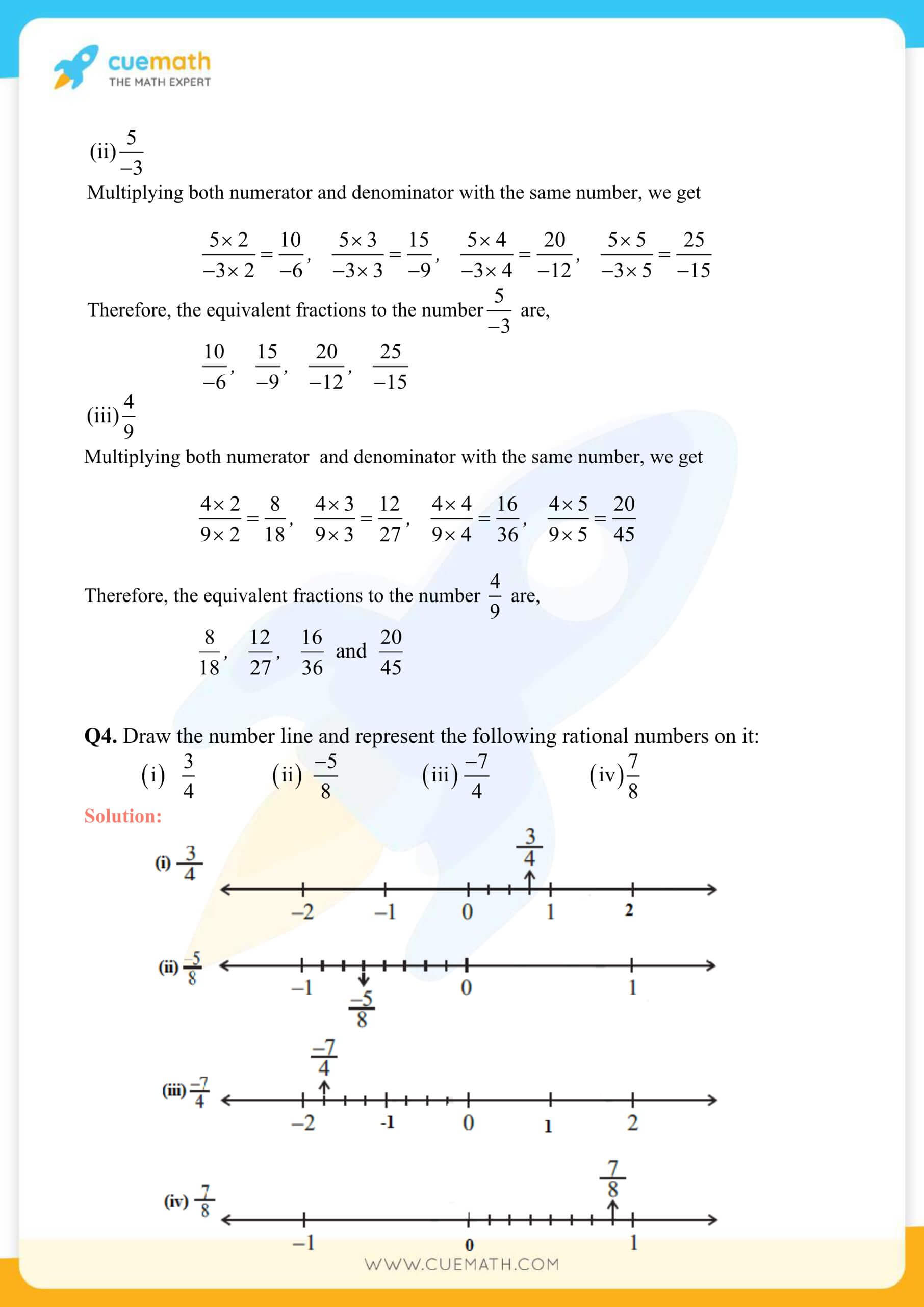 NCERT Solutions Class 7 Math Chapter 9 Rational Numbers 6