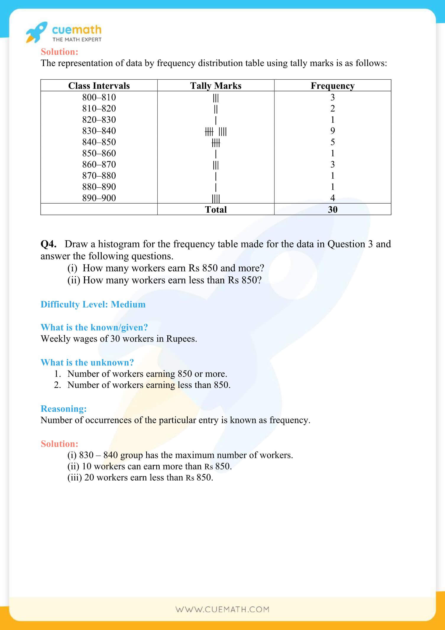 NCERT Solutions Class 8 Math Chapter 5 Exercise 5.1 4