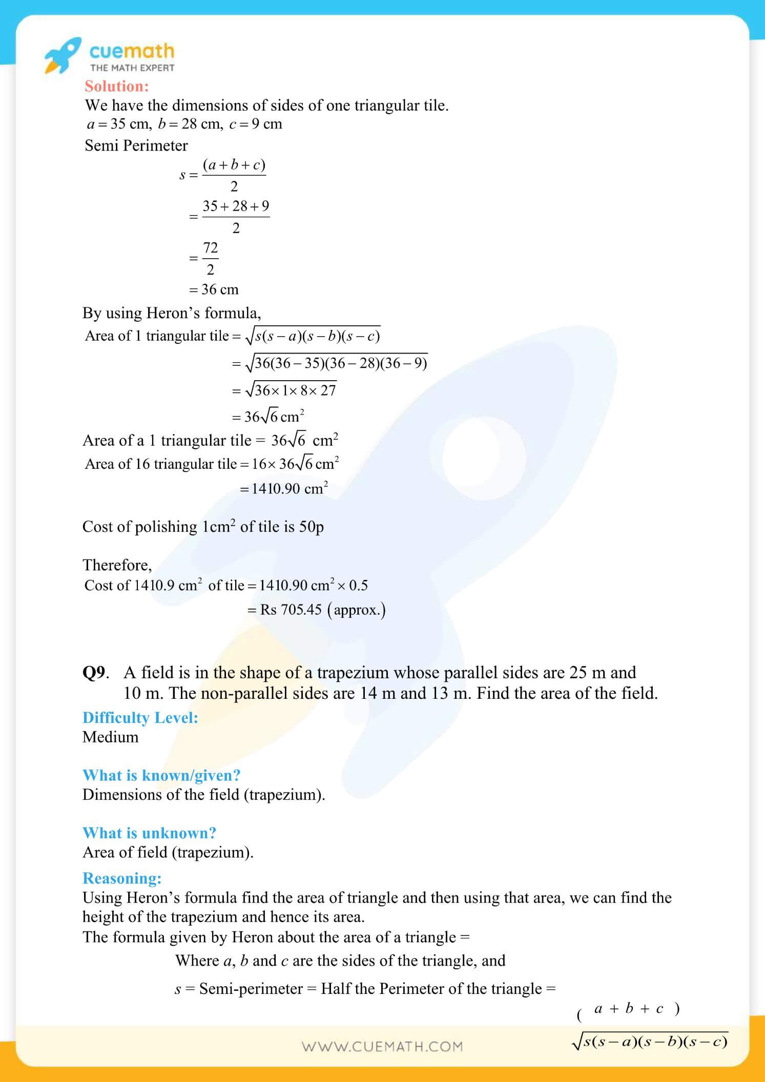 NCERT Solutions Class 9 Math Chapter 12 Exercise 12.2 20