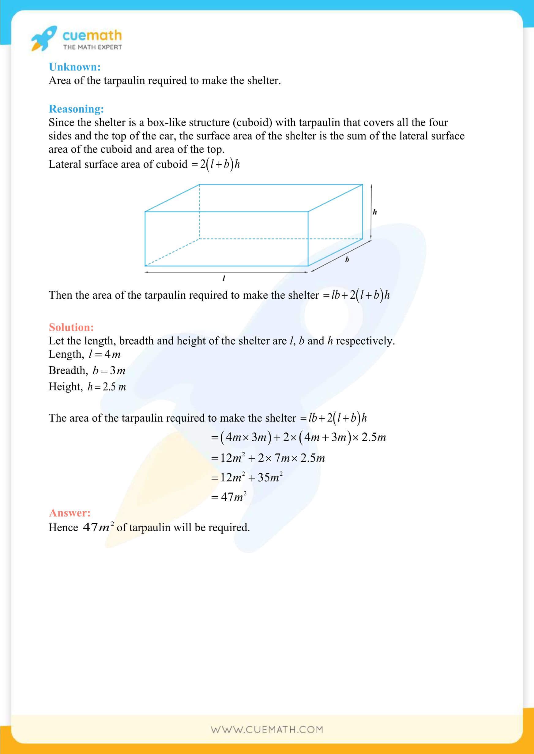 NCERT Solutions Class 9 Math Chapter 13 Exercise 13.1 11