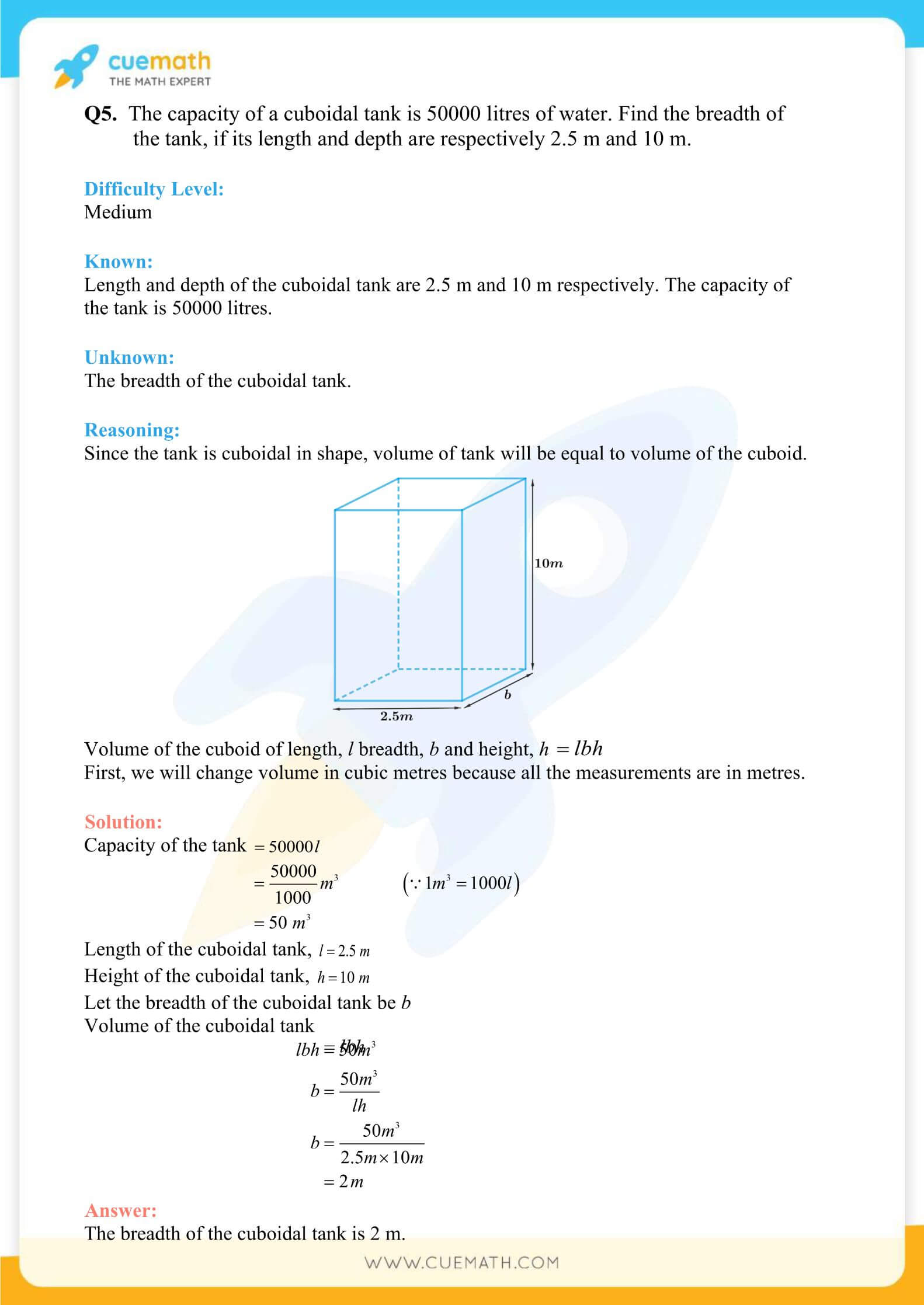 NCERT Solutions Class 9 Math Chapter 13 Exercise 13.5 50
