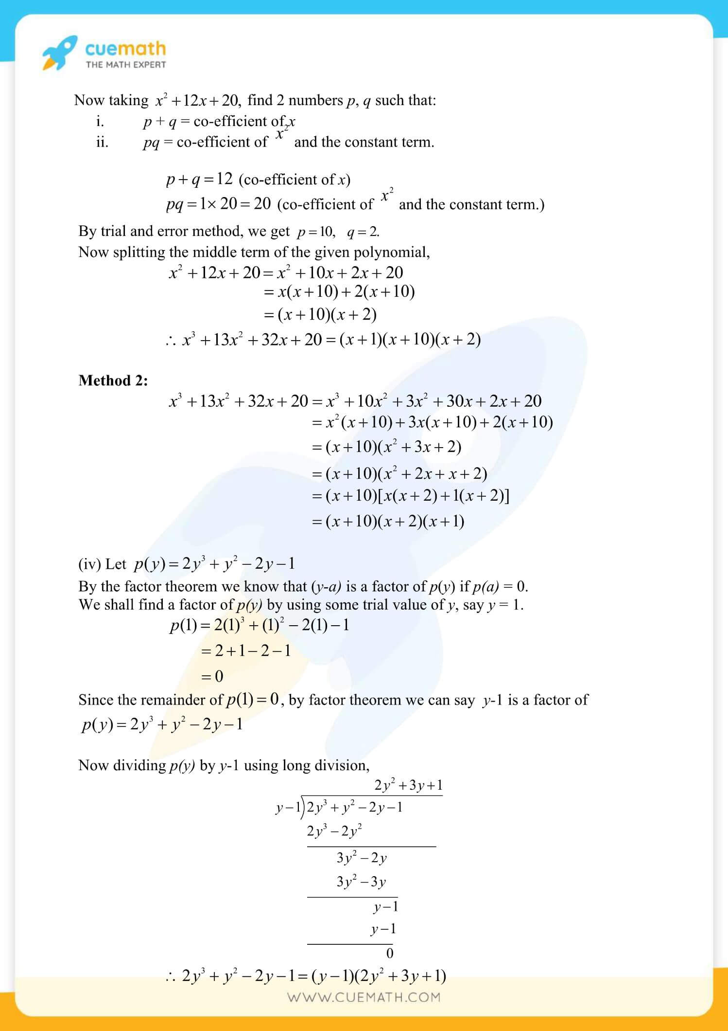 NCERT Solutions Class 9 Math Chapter 2 Exercise 2.4 20