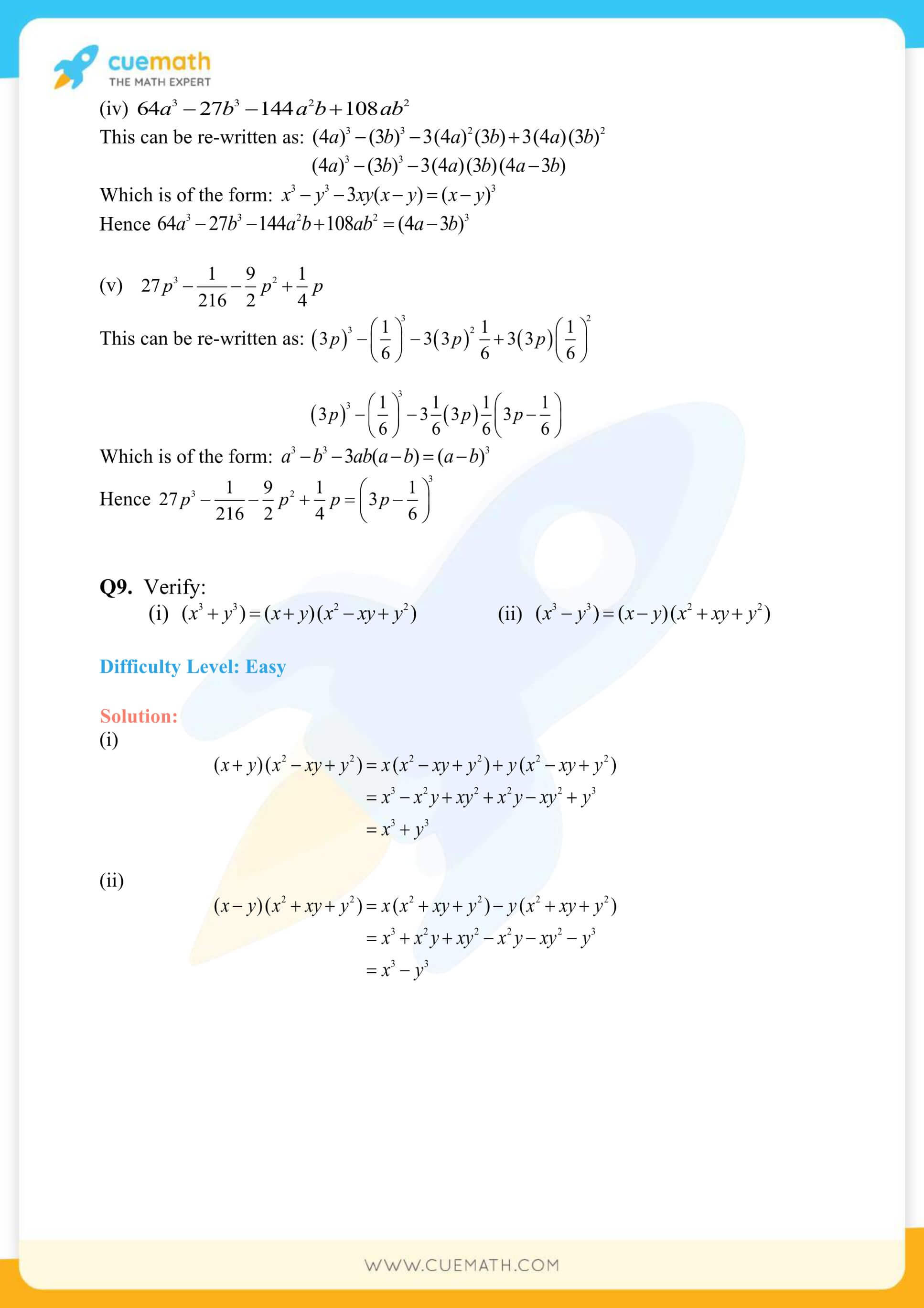 NCERT Solutions Class Exercise 2.5 30