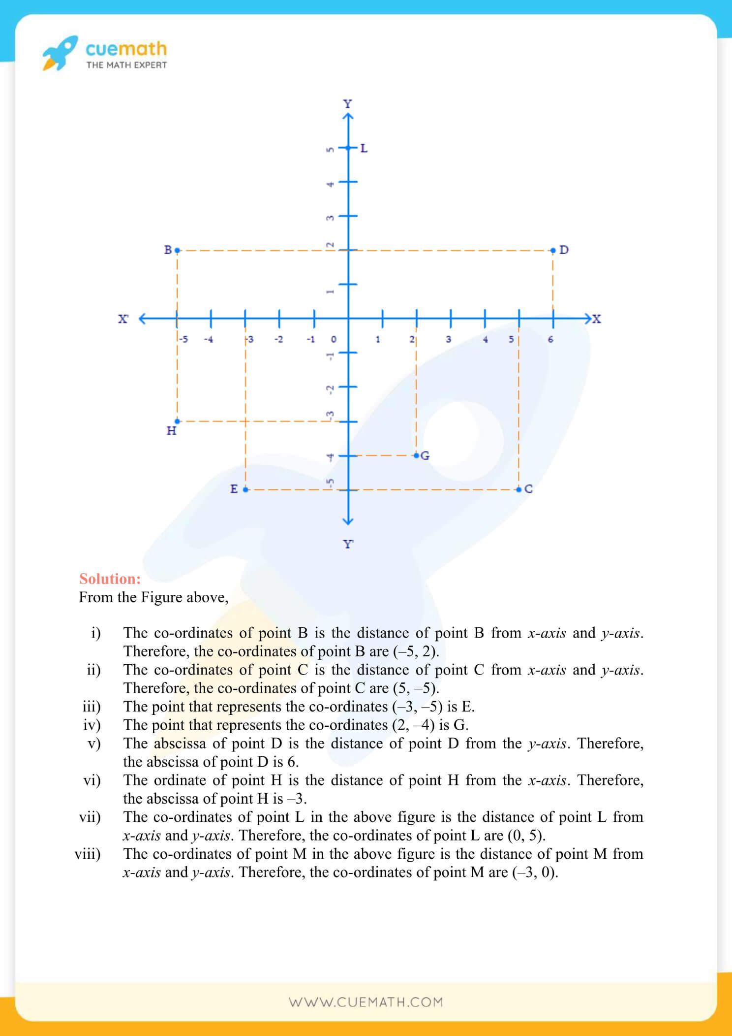 NCERT Solutions Class 9 Math Chapter 3 Co Ordinate Geometry 6