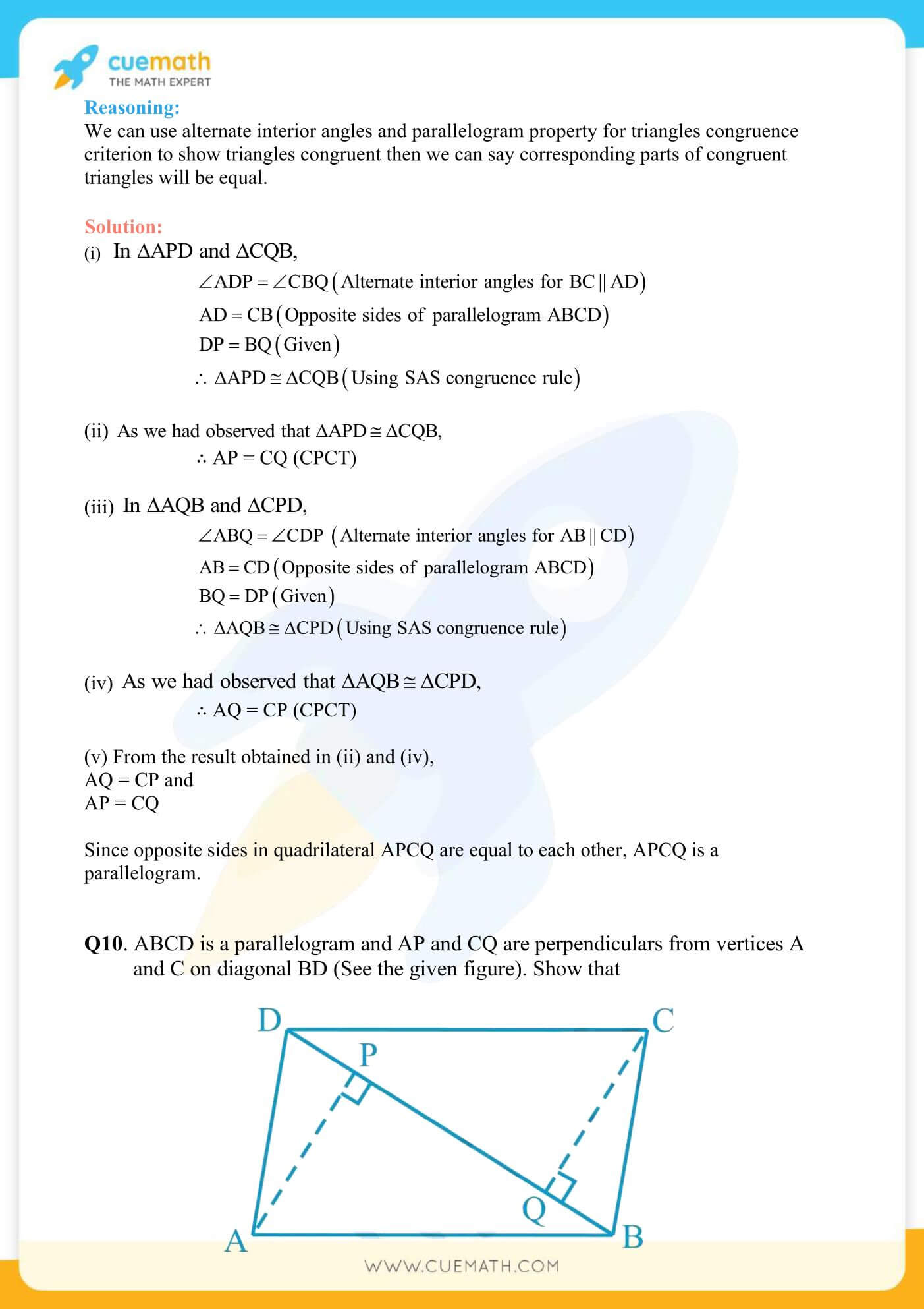 NCERT Solutions Class 9 Math Chapter 8 Exercise 8.1 12