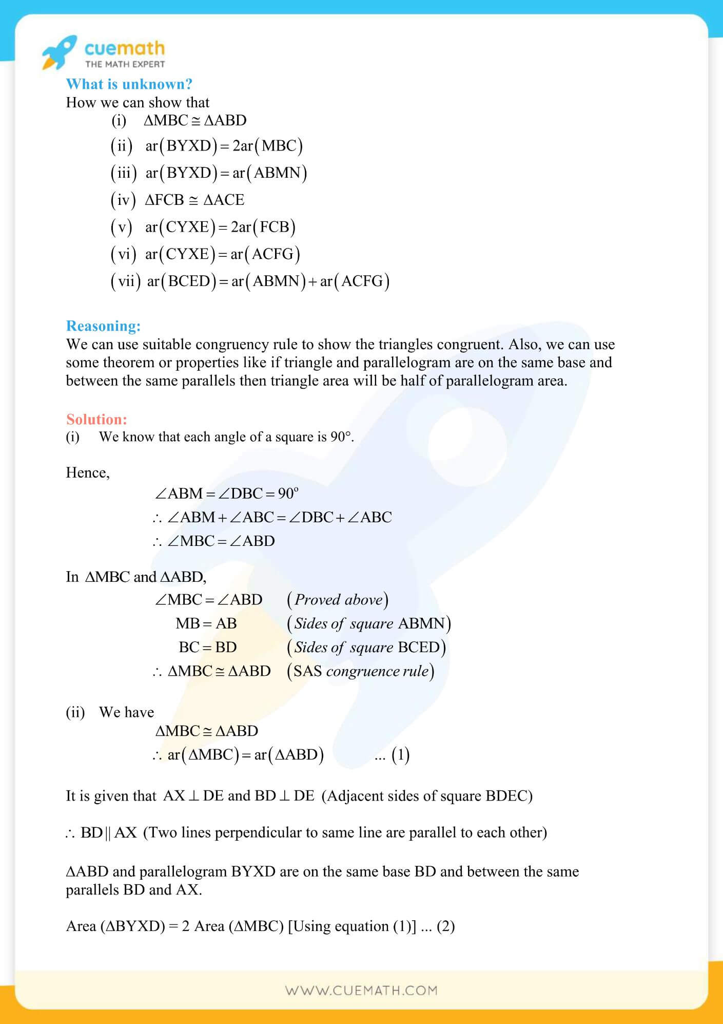 NCERT Solutions Class 9 Math Chapter 9 Areas Of Parallelograms And Triangles 47