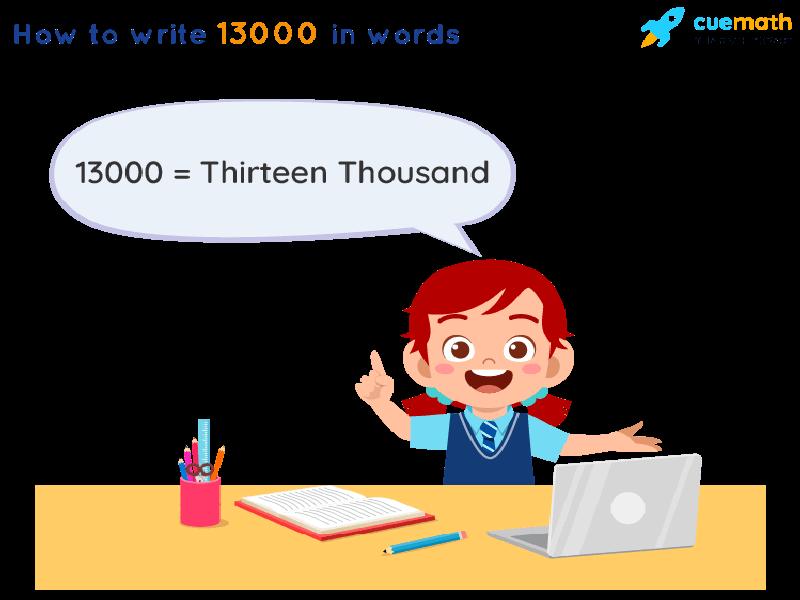 13000 in Words