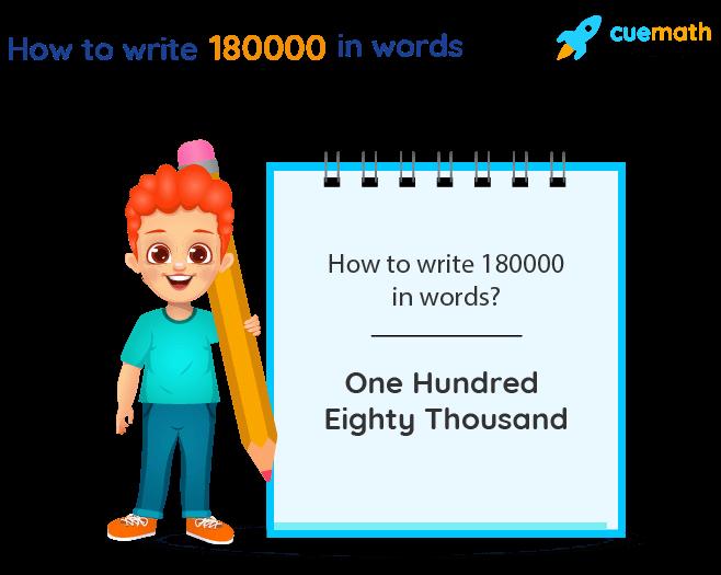 180000 in Words