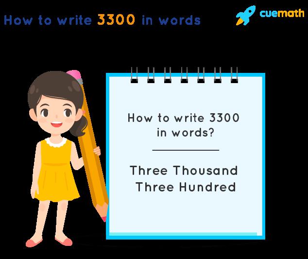 3300 in Words