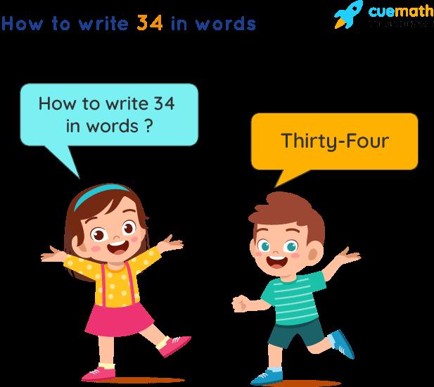 34 in Words