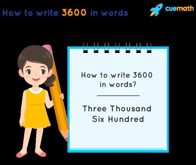 3600 in Words