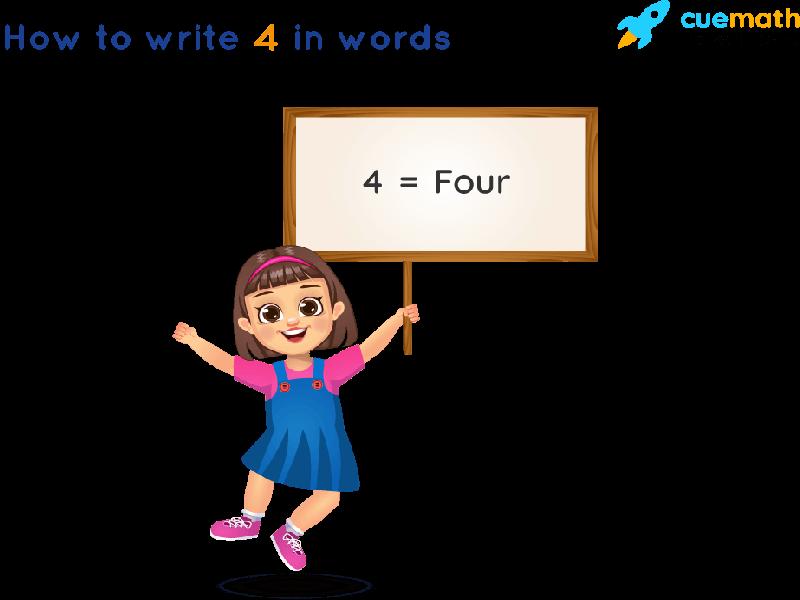 4 in Words