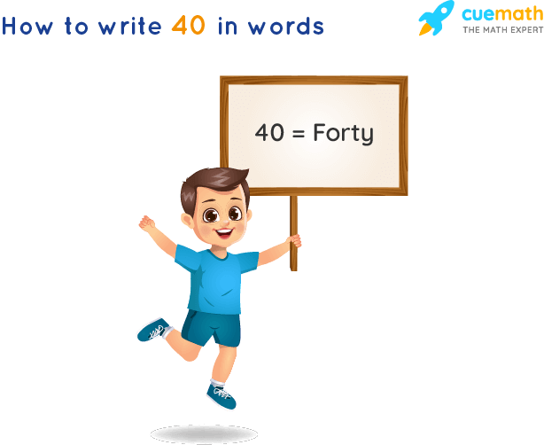 40 in Words