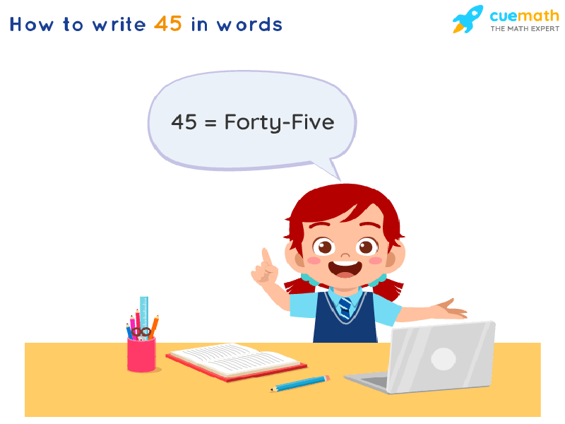 45 in Words